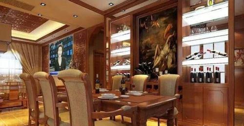 高大上餐厅酒柜效果图