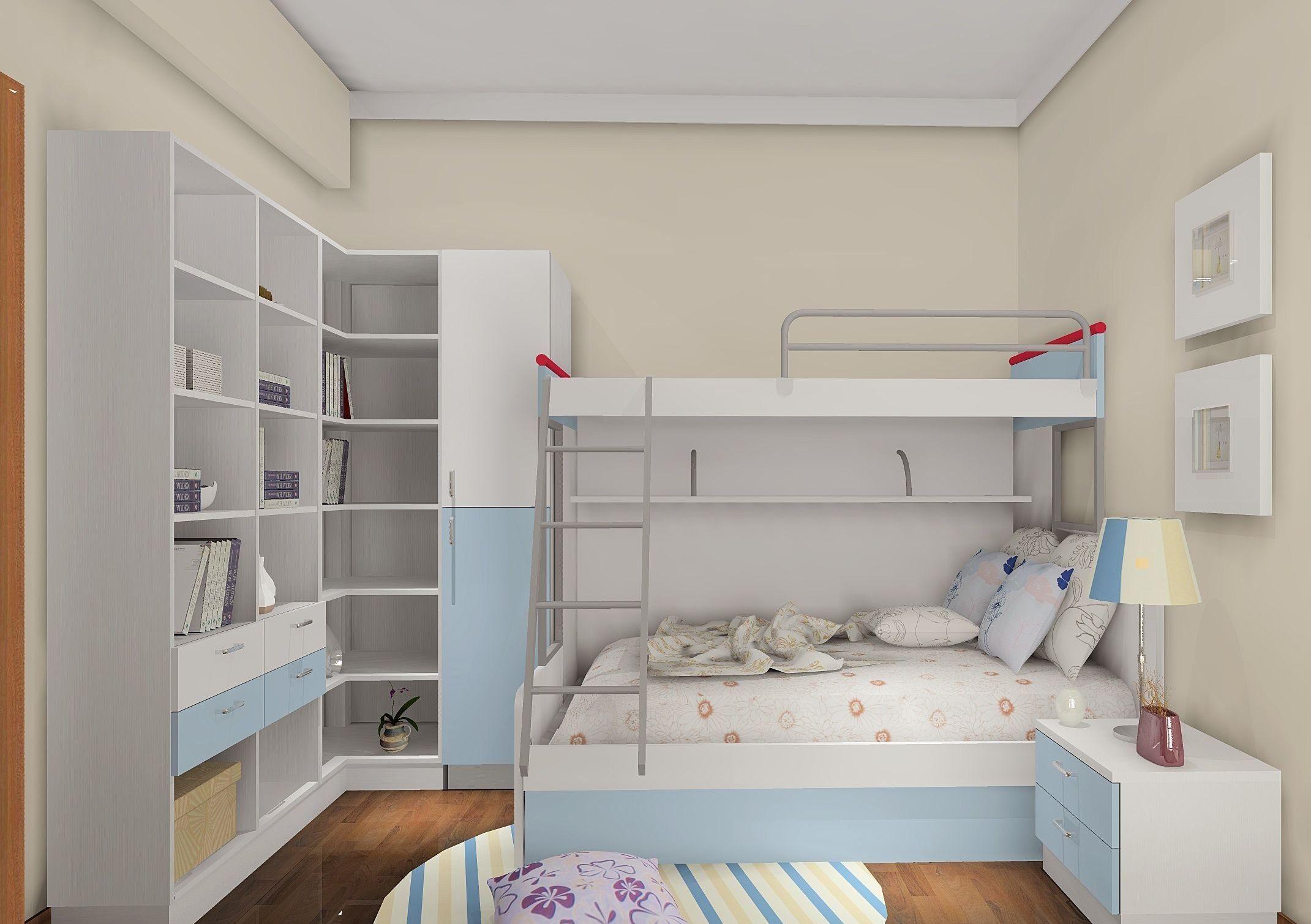 儿童房布置诀窍,儿童房效果图对比图片