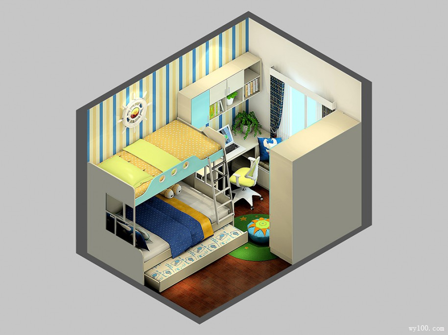 儿童房设计效果,对孩子的影响大着呢