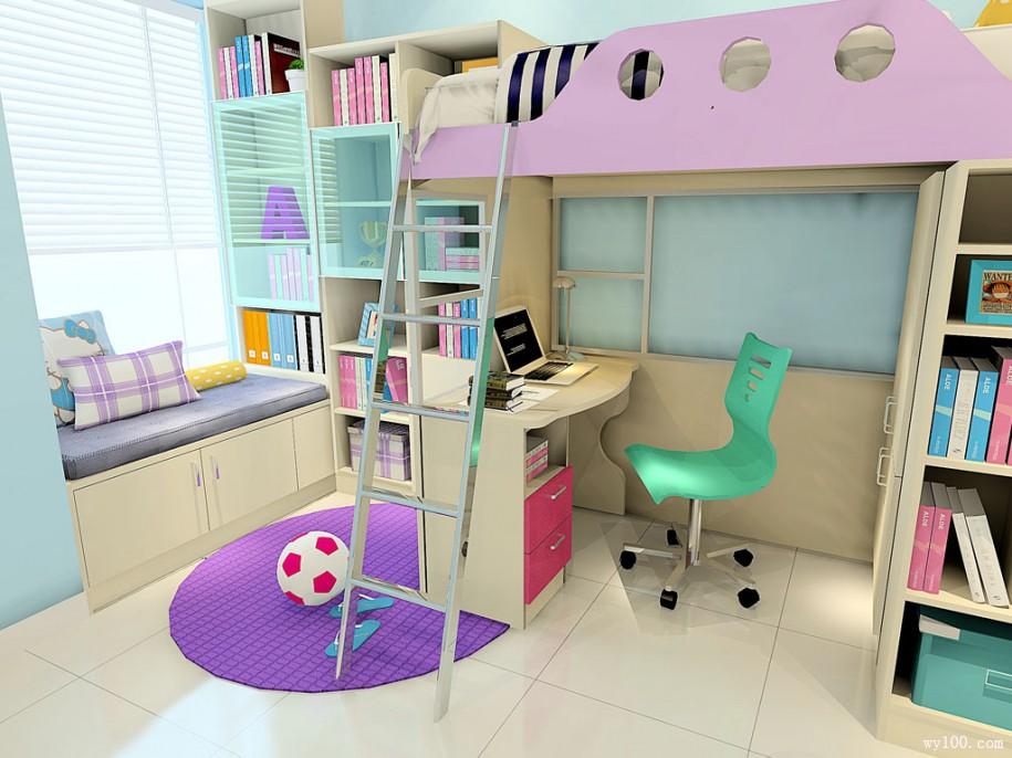 儿童书柜书桌组合,你值得拥有