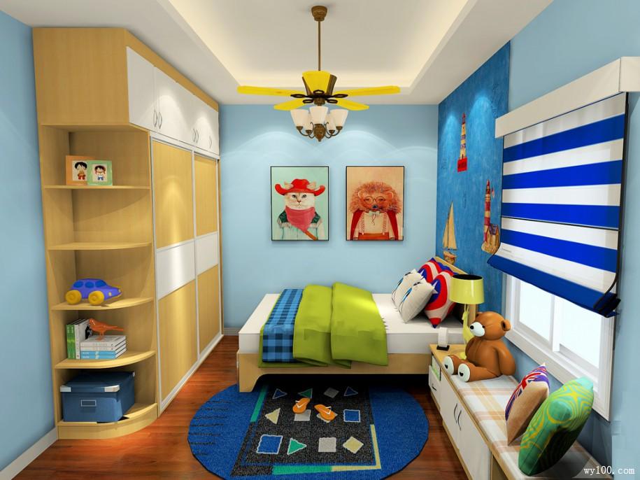 复式儿童房装修效果图,装修模板参考