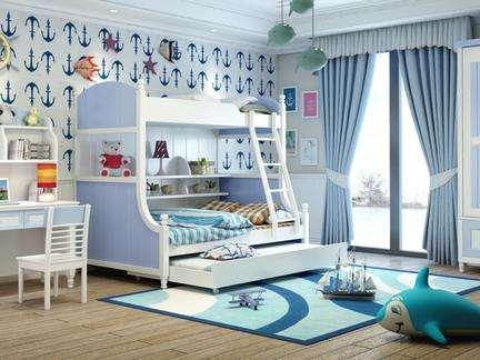 海洋风儿童房装修--维意定制网上商城