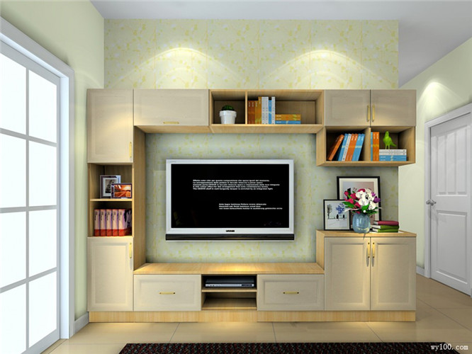 客厅组合电视柜的空间利用--维意定制网上商城