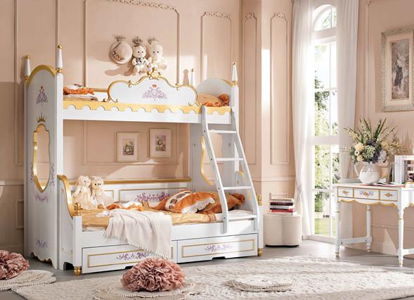 儿童房布置高低床--维意定制家具网上商城