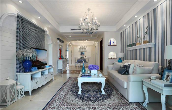 简欧客厅家具颜色搭配--维意定制家具网上商城