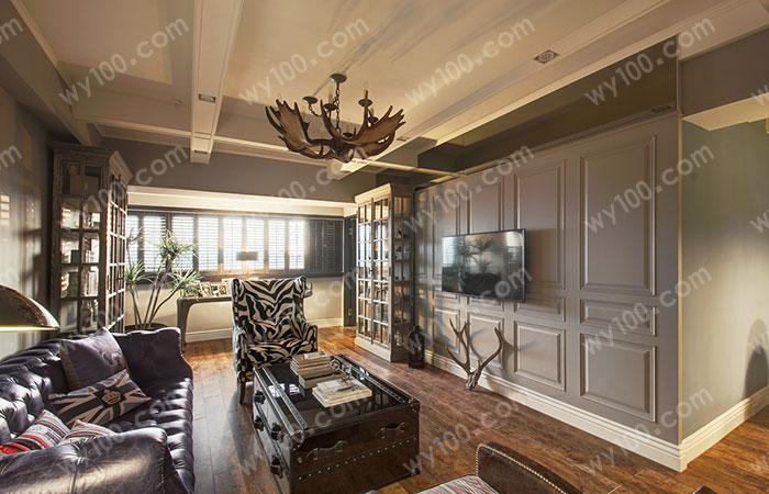 简欧客厅家具配色方案--维意定制家具网上商城