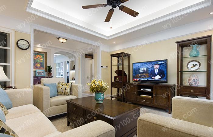 美式高低电视柜--维意定制家具网上商城