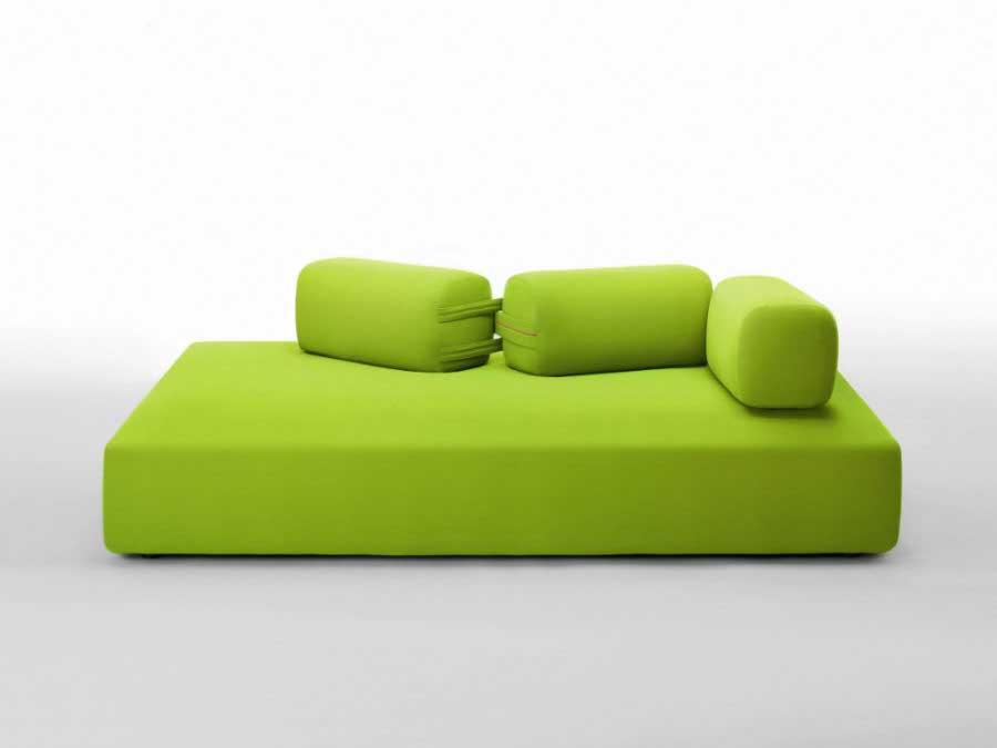 绿色布艺沙发图片