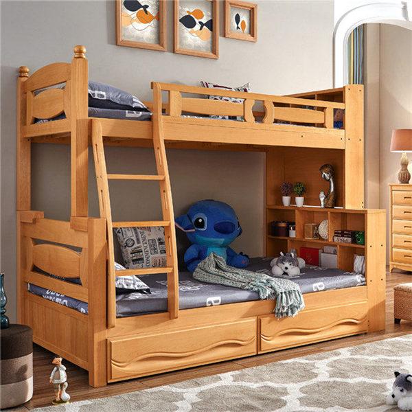 实木双层床高度多少?